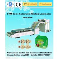 Buy cheap Automatic Flute Laminator High-strength Feeder Carton Packaging Machinery product