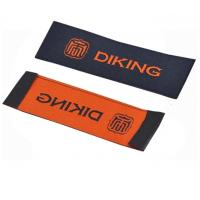 China Custom Logo Personalized Apparel Labels Glue Adhesive Sticker Iron On Woven Labels on sale