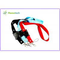 China High quality gifts promotional printed lanyard neck strap USB flash drive for factory workers on sale
