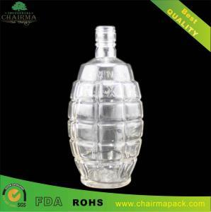 Best High-end grenade-shape Glass Bottle for Vodka or Whisky wholesale