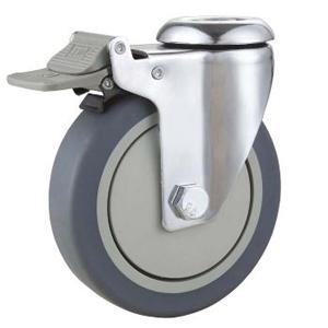 Best Hole Top Medical castor,Medical bed castor,TPR Medical caster,screw stem Nylon brake medical caster wholesale