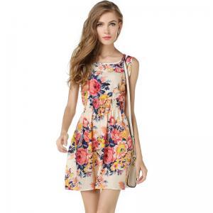 China Floral Print Ladies Long Maxi Dresses S-2XL Long Floral Maxi Dress on sale