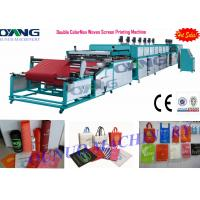 China Automatic roll to roll Non Woven Screen Printing Machine drying - collecting on sale