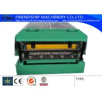 China Steel Automatical Roof Panel Roll Forming Machine with Panasonic PLC Control on sale