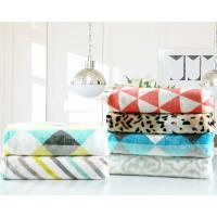Best Printed Geometric Flannel Fleece Blanket 200x220cm 220x240cm For Sofa And Chair wholesale