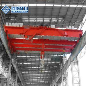 China Heavy Duty Overhead Foundry Crane 10 - 50 Ton Lifting Load Two Box Girder Type on sale