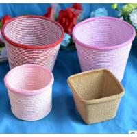 China 2016 Hot sale Europe Style Paper cloth Basket, storage basket, gift packing, cosmetic packing, household items on sale