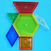 Best Transparent Pattern Blocks, Comes in 6 Assorted Shapes and Colors wholesale