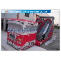 China Outdoor Truck Shape Inflatable Water Slides For Kids And Adults Customized on sale
