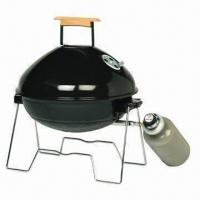 Best Apple Style Portable Gas BBQ Grill with Wooden Handle and Steel Burner Plate Table Top Gas Grill wholesale