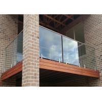China Stainless Steel Handrail Exterior Tempered Glass Balcony Railing on sale