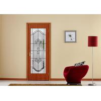 Cheap Arctic Patterned Window Door Suit Decorative Frosted Glass Brass / Nickel / Patina Available for sale