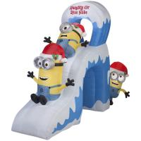 Best Holiday Party Christmas Game Inflatable Minion Slide Decoration wholesale