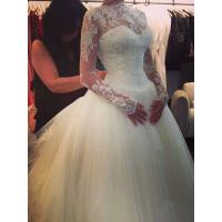 China NEW!!! Ball gown Long sleeves wedding dress Zip back Bridal gown #14077bn42 on sale