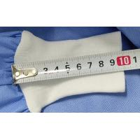 China Knitted Cuff Disposable Hospital Gowns , Surgical Gowns Hook Loop Fastener on sale