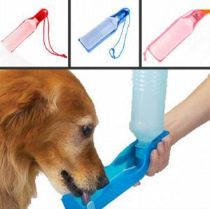 500ml Blue/Red/Pink pet waterer Potable Pet Dog Cat Water Feeding Drink Bottle