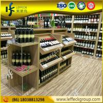 Best Retail shop floor wood wine bottle rack/ wine display shelf wholesale