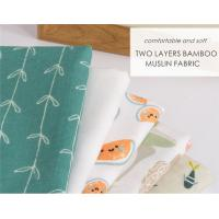 Bamboo Cotton Soft Baby Muslin Fabric For Baby Blanket Reactive Printing