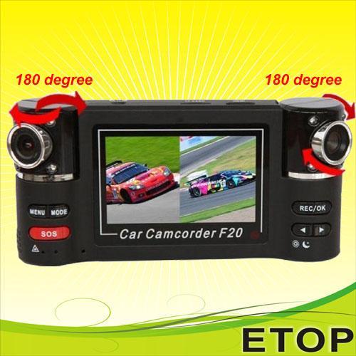 Cheap F20 dual lens hot sell car dvr for sale