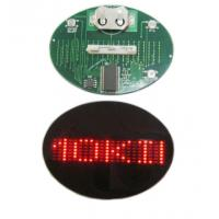 Best Flashing LED name badge display panel red and blue wholesale