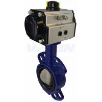 China Pneumatic Cylinder Operated Butterfly Valve , Metal Seated Butterfly Valve  Air Flow Control on sale