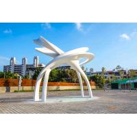 China Abstract Style Outdoor Metal Sculpture , Outdoor Large Metal Yard Ornaments on sale