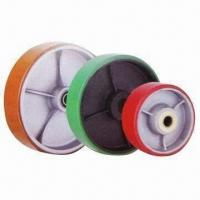 Best Polyurethane Wheels with Cast Iron Center, Customized Colors are Accepted wholesale