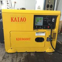 China KDE8600T Four Wheels Compact Diesel Generator Industrial 3600 Rpm Engine Speed on sale