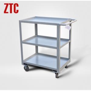 Best Industrial steel hand trolley with three tiers, heavy duty storage platform trolley wholesale