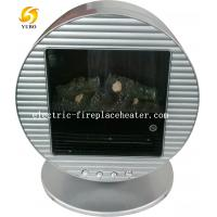 China Round Portable Chimney Free Mini Electric Fireplace Log Effect Electric Stove on sale
