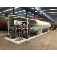 China 10 Tons Transporting Large Propane Tanks New Condition Gas Mobile Filling Station on sale