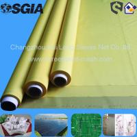 China 43T 54T 77T Polyester T - Shirt Screen Printing Frabic , White / Yellow / Black wholesale