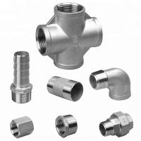 China Casting Stainless Steel Pipe Fittings , Threaded Stainless Steel Plumbing Fittings on sale