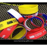 Buy cheap cheap promotional silicone wristband with embossed colourful logo from wholesalers
