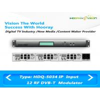 Buy cheap 12 RF Output Digital TV Modulator Slot Card Modules Multiplexing Function product