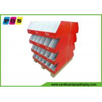 Retail Case Stacker Cardboard Pallet Trays , Cardboard Floor Displays For Knitting Wool PA024