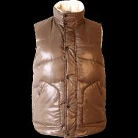 Best Winter warm Brown sleeveless workwear cotton work vest for adults wholesale