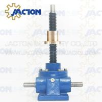 China 10 Ton Acme Screw Jack Lifting Screw Diameter 46MM Lead 8MM Gear Ratio 8:1, 16:1 and 32:1 on sale