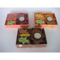 Best Bedroom Paraffin Wax Fragrance Scented Candle Gift Sets With Ceramic Tealight Holder wholesale
