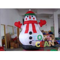 Best Christmas Outdoor Advertising Inflatables Durable With Snowman wholesale