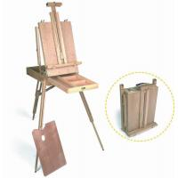 Best Wooden Painting Easel Art Stand , French Sketch Box Easel With Palette Belt Aluminium Tray wholesale