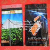 Best custom printed laminated tobacco bags with moisture pad wholesale