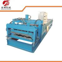 Cheap Glazed Roofing Tile Cold Roll Forming Machine For Building Roof for sale
