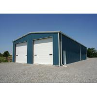 China Prefab Steel Building Homes / Steel Frame Residential Homes With Roller Shutter Door on sale