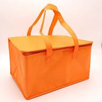 Cheap White Promotional Non Woven Material aluminum cooler bag thermal bag with Zipper for sale