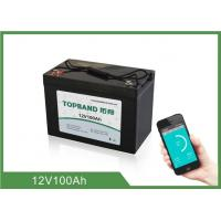 Best LiFePO4 12V 100Ah Lithium RV Battery Pack Bluetooth Connection For Caravan wholesale