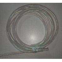 China White Color Braided Wire Mesh Sleeve Fire Resistance For Computer Electric Power Lines on sale