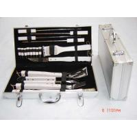 China 18pcs BBQ tools in a box,Oak wooden handle! on sale