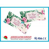 China Personal Hygiene Wet Tissue Paper For Face , Unscented Feminine Wipes on sale