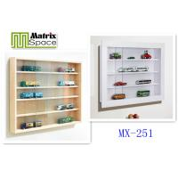 Best 4 Layers wooden modern Wall Mounted Display Cabinet , 78 x 9.4 x 58 (WxDxH) wholesale